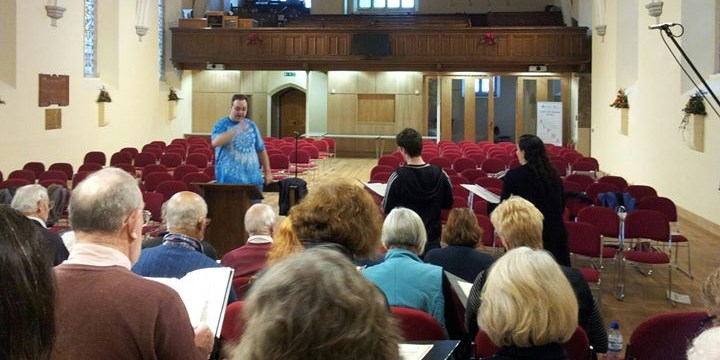 Clevedon Choral Society rehearsal, December 2012
